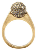 House Of Harlow Crystal Orb Ring Gold