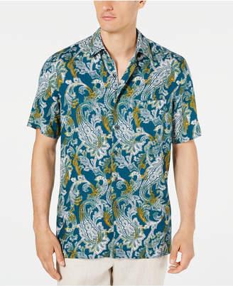 Tasso Elba Men Monte Paisley Silk Shirt