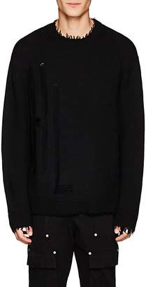 Helmut Lang Men's Distressed Wool Sweater