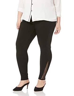 Lysse Women's Size Plus Eclipse Lace and Ponte Legging