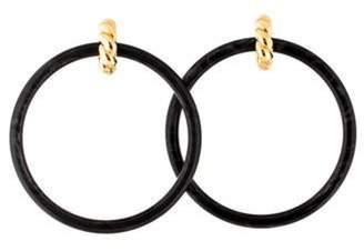 Balenciaga Resin Hoop Earrings Grey Resin Hoop Earrings