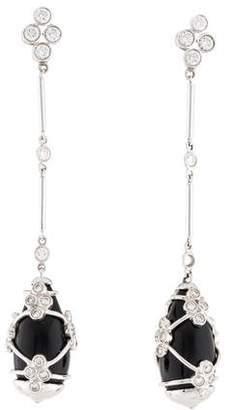 Kwiat 18K Onyx & Diamond Drop Earrings