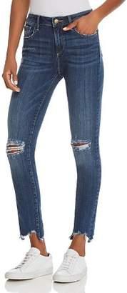 Aqua Distressed High-Rise Skinny Jeans in Medium Wash - 100% Exclusive