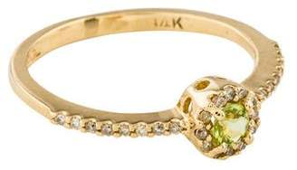 Ring 14K Peridot & Diamond