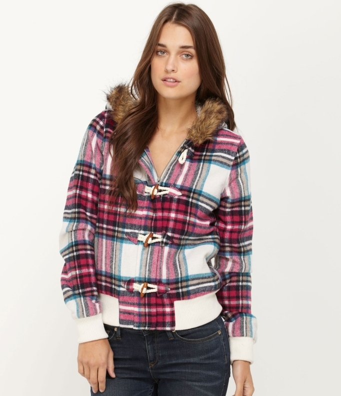 Roxy Withered Maple Plaid Jacket