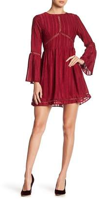 Moon River Bell Sleeve Mini Dress
