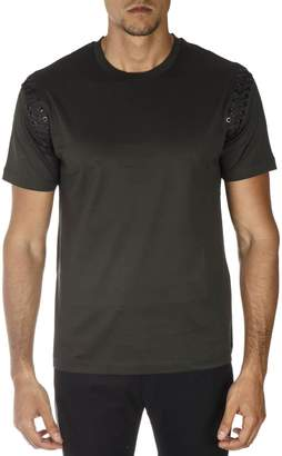 Les Hommes Green Cotton T-shirt