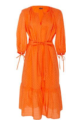 MDS Stripes Eyelet Garden Dress