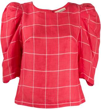 Mara Hoffman geometric-print structured blouse