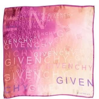 Givenchy Logo Print Silk Scarf