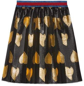 Gucci Children's heart and star lame skirt