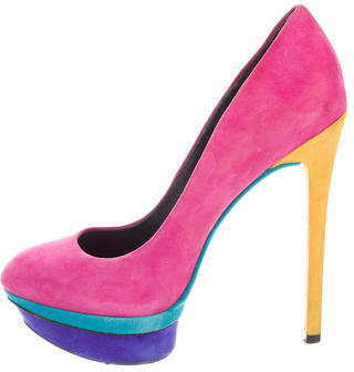 B Brian Atwood Fontanne Colorblock Pumps $85 thestylecure.com