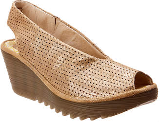 Fly London Yazu Leather Wedge Sandal