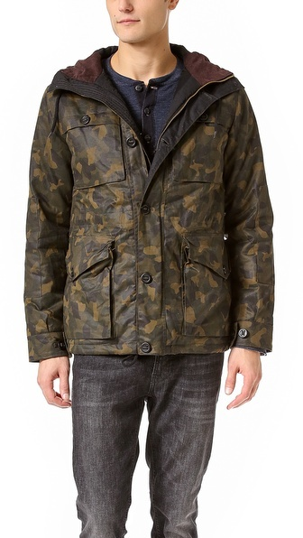 Camo Shades of Grey by Micah Cohen 4 Pocket Jacket