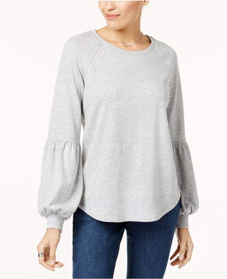 Style&Co. Style & Co Bishop-Sleeve Sweatshirt, Created for Macy's
