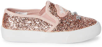 Juicy Couture Toddler/Kids Girls) Rose Gold Paradise Embellished Glitter Slip-On Sneakers