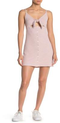 Emory Park Ribbed Tie Front Tank Dress