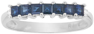 FINE JEWELRY LIMITED QUANTITIES Genuine Blue Sapphire and Diamond-Accent 14K White Gold Band