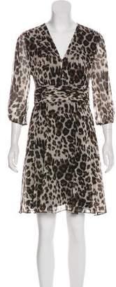 Diane von Furstenberg New Della Silk Long Sleeve Dress