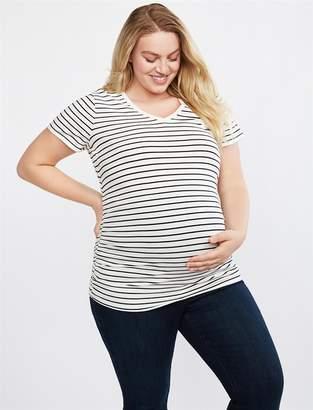Motherhood Maternity Plus Size V-neck Side Ruched Maternity Tee