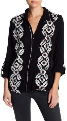 Raga Rosanna Embroidered Button Down Shirt