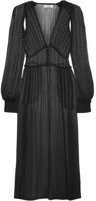 Attico - Ginger Embellished Silk-georgette Dress - Black $1,050 thestylecure.com