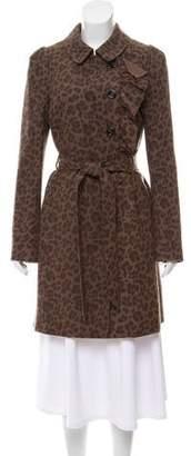 Rebecca Taylor Wool Leopard Print Coat