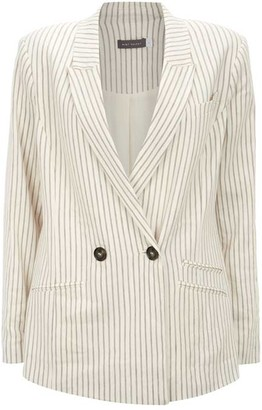 Mint Velvet Striped Double Breasted Blazer