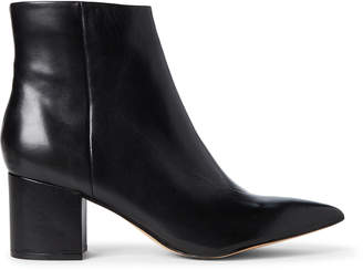 Marc Fisher Black Jelly Leather Ankle Booties