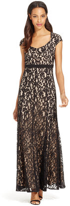 MSK Cap-Sleeve Lace Gown $109 thestylecure.com