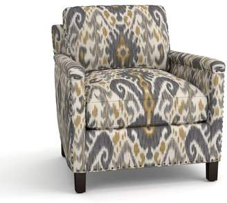 Pottery Barn Tyler Upholstered Armchair - Print and Pattern