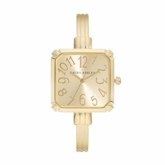 Laura Ashley Women's Square Cuff Watch $395 thestylecure.com