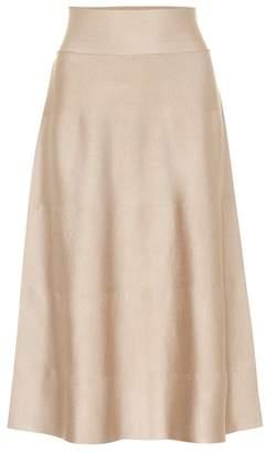 Agnona Silk stretch-knit skirt