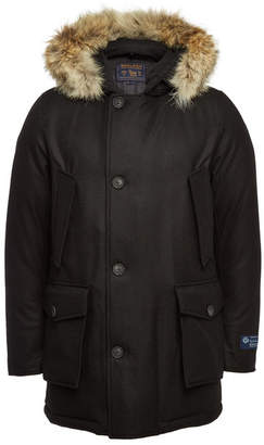 Woolrich Arctic Virgin Wool Down Parka with Fur and Cashmere