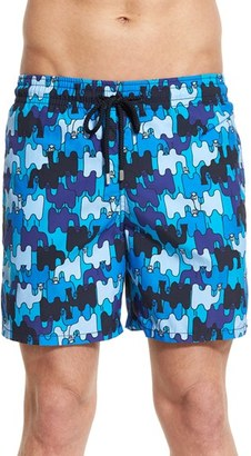 Men's Vilebrequin 'Moorea - Camels' Print Swim Trunks $250 thestylecure.com