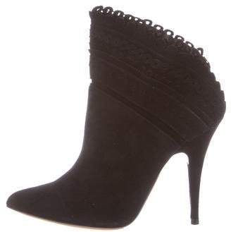 Tabitha Simmons Pointed-Toe Suede Boots