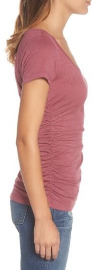 Women's Caslon Shirred V-Neck Tee