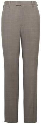 Banana Republic Slim Windowpane Performance Stretch Wool Dress Pant
