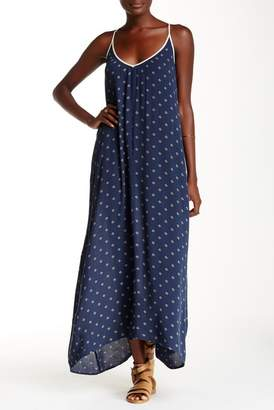 Love Stitch Printed Gauze Maxi Dress