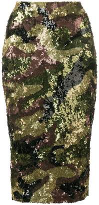 P.A.R.O.S.H. camouflage sequined skirt