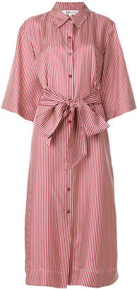 Diane von Furstenberg striped midi shirt dress