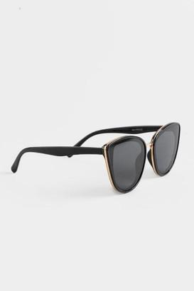 francesca's Mylene Cat Eye Sunglasses - Blush