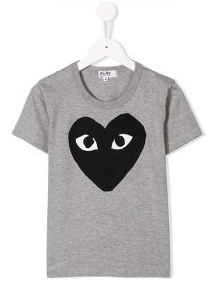 Comme des Garcons Kids heart logo print T-shirt