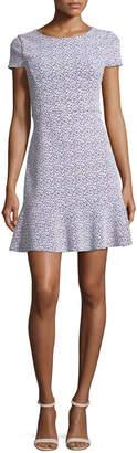MICHAEL Michael Kors Jacquard Knit Flounce Dress
