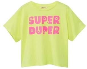 MANGO Message fluorescent T-shirt