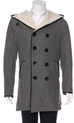 Junya Watanabe Comme des Garçons Double-Breasted Hooded Coat