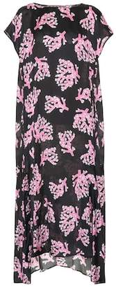 Marni Asymmetric printed midi dress