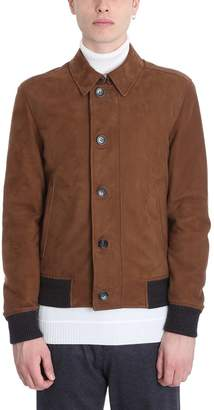 Ermenegildo Zegna Brown Suede Jacket