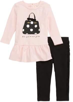 Kate Spade Dot Handbag Dress & Leggings Set