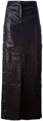 Ilaria Nistri studded A-line long skirt